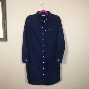 Levi's Indigo Denim Midi Dress Button Up XS